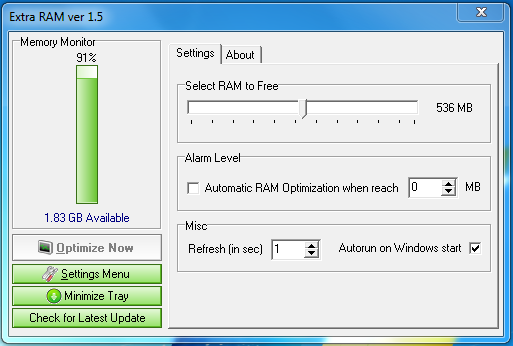 Free Ram Memory Optimizer For Computers And Laptops