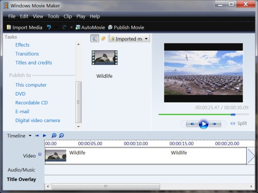 download is you could run both windows live movie maker and windows