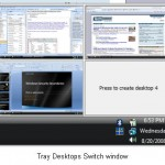 Desktops from sysinternals, to create virtual desktops for windows