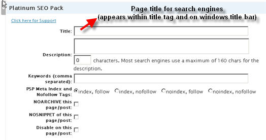 page title optimization for search engines