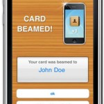 Share business cards from iphone with beamME