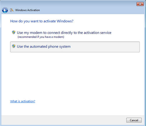 Activate windows 7 by phone