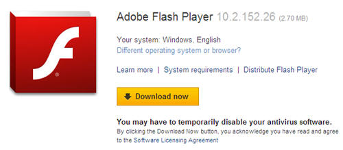 free adobe flash player 9 download for windows xp