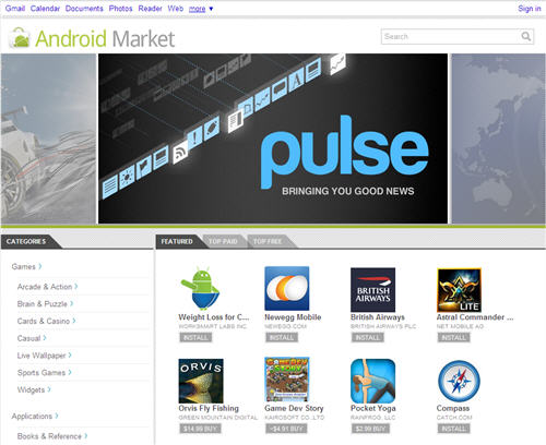 Android Market Wesbtore - Download and Install Android ...