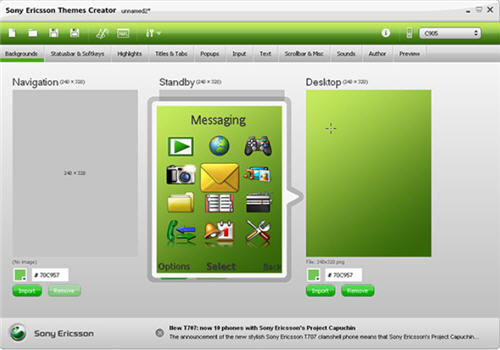 Create Sony Ericsson Themes