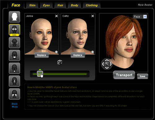 Customize avatar