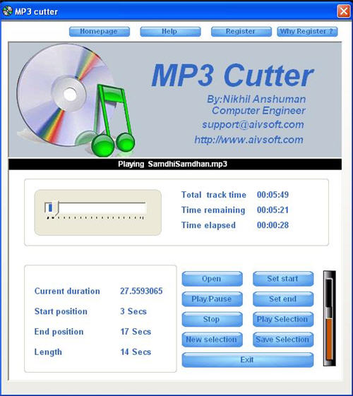 mp3 cutter software  free pc