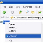 Delete files in windows with Unlocker