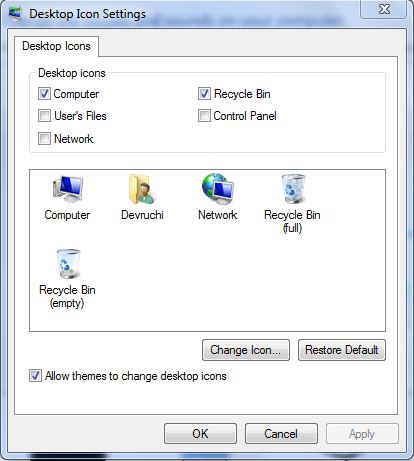 Deleted recycle bin in Vista