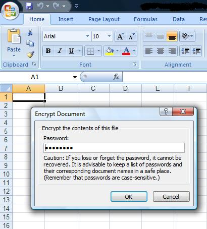 Encrypt, password protect and lock files in Excel 2007 ...