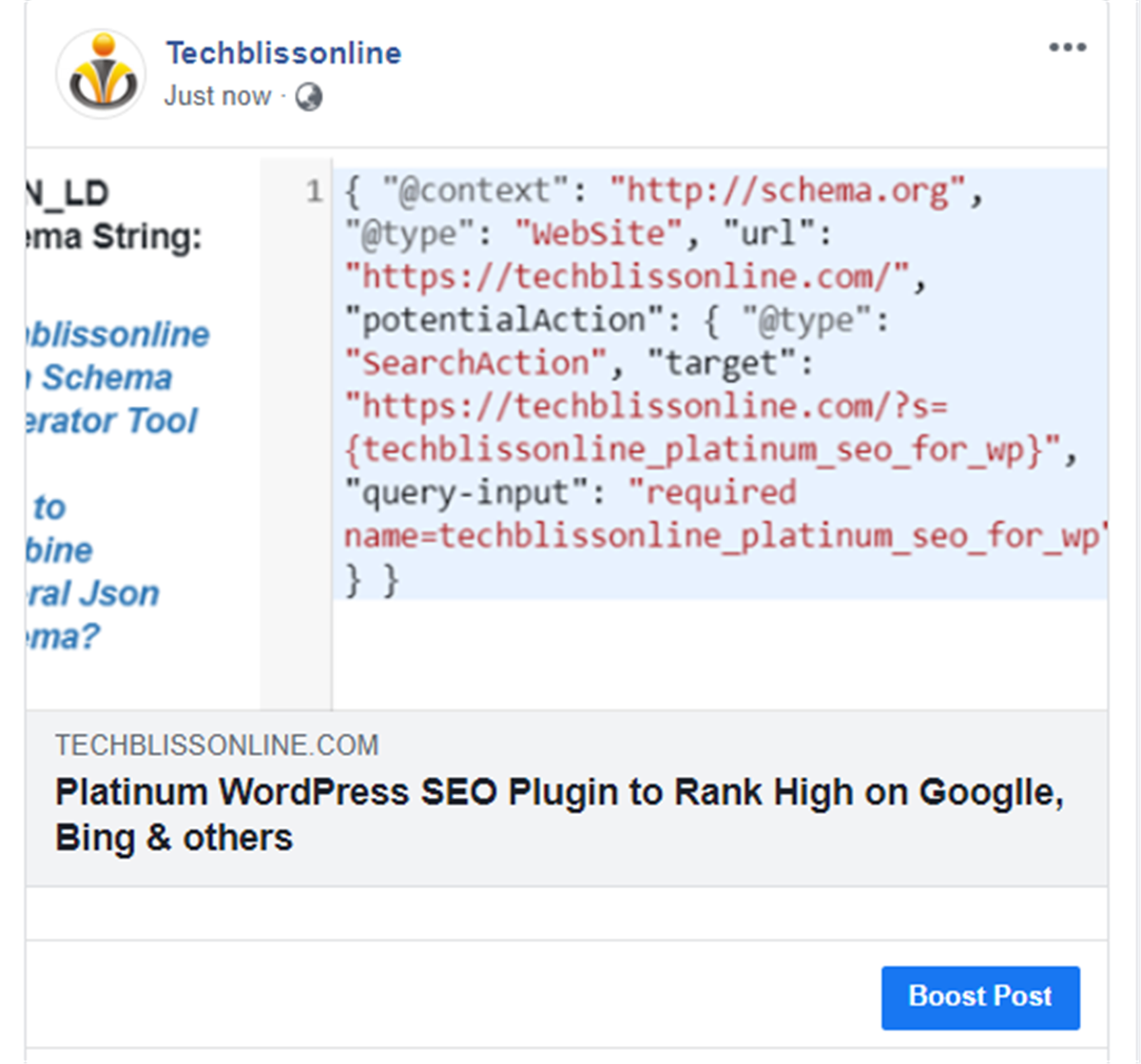 sharing on facebook with platinum wordpress seo plugin