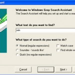 How to find files with a text string