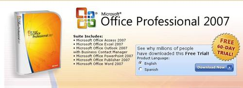free office 2007 professional