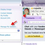 How to link Yahoo Messenger 11 to Facebook and Twitter?