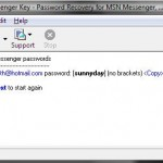 Recover Instant Messenger password with Messenger Key
