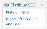 Platinum SEO settings