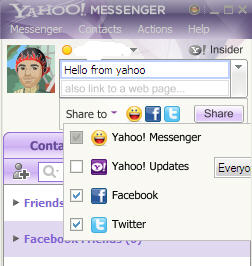 share updated from yahoo messenger
