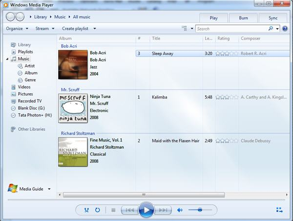 windows media player 12 software free download