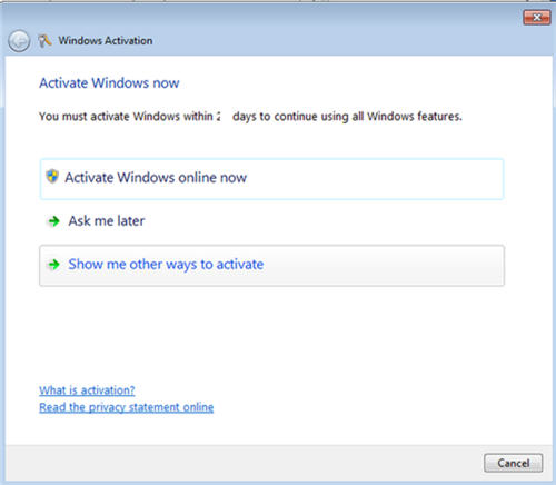 Windows 7 activation methods