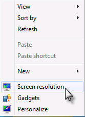 Windows 7 Screen Resolution