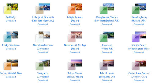Windows 7 Themes, Themes For Windows 7, Seven themes