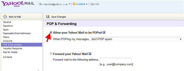 how to set read receipt in yahoo mail